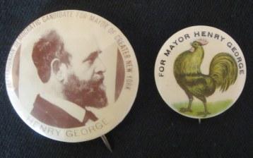 Campaign Buttons, circa 1897