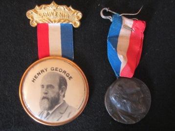 Campaign pins, circa 1897
