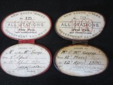 Henry George Railway Passes, 1890