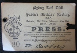 Henry George's Sidney Press Pass, 1890