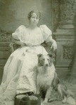 Anna George with dog Thoe. date unknown