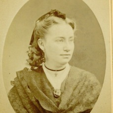 Daguerreotype of Annie Corsina Fox George, date unknown