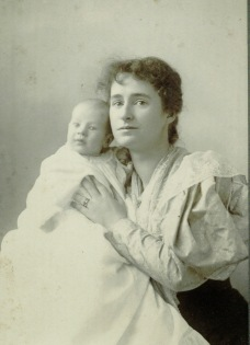Jennie George Atkinson with her son Henry George Atkinson, date unknown [circa 1897]