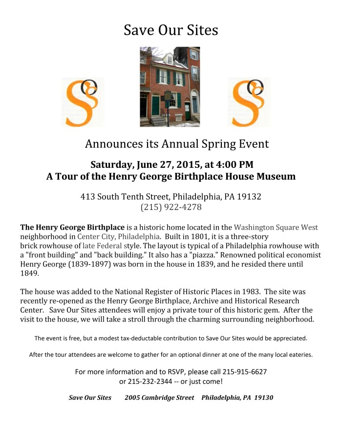2015 Save Our Sites Annual Spring Tour_1