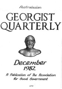 Georgist Quarterly