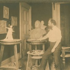 Henry George III in his studio