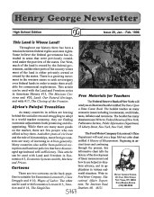 Henry George Newsletter HS Edition_1