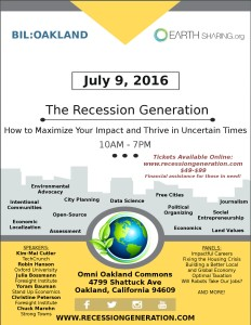 Recession Generation Event Flyer